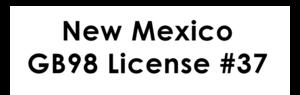 New Mexico GB98 License #37